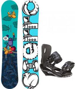 Sierra Stunt Snowboard w/ Sapient Wisdom Bindings Black
