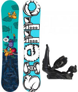 Sierra Stunt Wide Snowboard w/ Forum Republic Bindings Dark