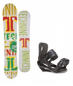Technine MVP Series Snowboard w/ Sapient Wisdom Bindings Black