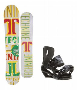 Technine MVP Series Snowboard w/ Sapient Stash Bindings Black/Charcoal