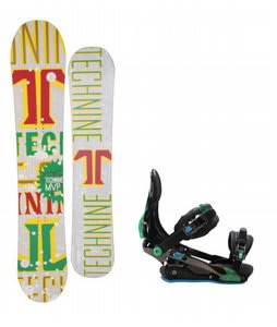 Technine MVP Series Snowboard w/ Rome S90 Bindings Blue/Green