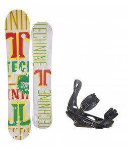 Technine MVP Series Snowboard w/ Burton P1.1 Bindings Black