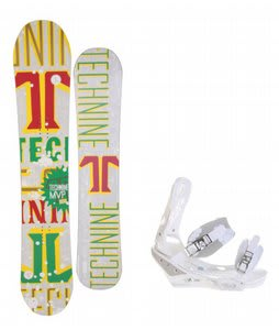 Technine MVP Series Snowboard w/ Burton Triad Bindings White