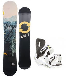 Twenty Four/Seven Highway Snowboard w/ Sapient Stash Bindings White
