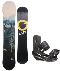 Twenty Four/Seven Highway Snowboard w/ Sapient Wisdom Bindings Black