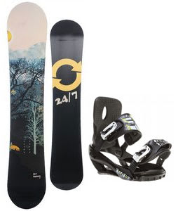 Twenty Four/Seven Highway Snowboard w/ Sapient Stash Bindings Black