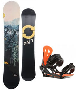 Twenty Four/Seven Highway Snowboard w/ Arctic Edge Team Bindings Black