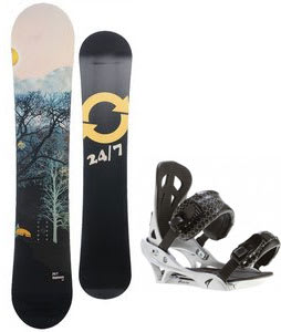 Twenty Four/Seven Highway Snowboard w/ Arctic Edge Team Bindings Silver