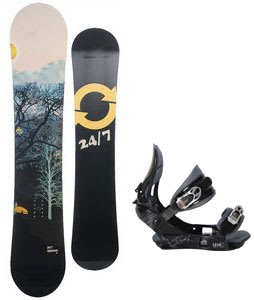 Twenty Four/Seven Highway Snowboard w/ LTD LT15 One Bindings