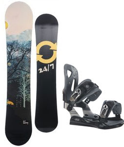 Twenty Four/Seven Highway Snowboard w/ LTD LT25 Bindings Black