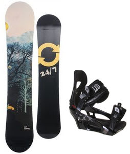 Twenty Four/Seven Highway Snowboard w/ LTD LT250 Bindings Black