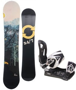 Twenty Four/Seven Highway Snowboard w/ LTD LT35 Bindings Black