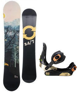 Twenty Four/Seven Highway Snowboard w/ Morrow Invasion Bindings Black