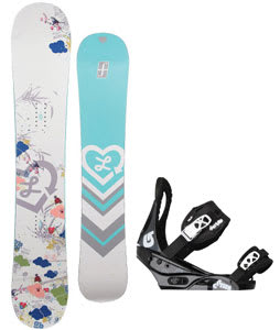 Forum Luxirie Snowboard w/Burton Citizen Bindings Black