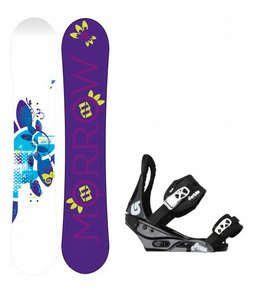 Morrow Sky Snowboard w/Burton Citizen Bindings Black