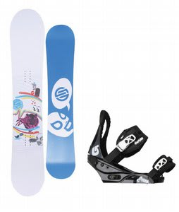 Santa Cruz Suave Eyes Snowboard w/Burton Citizen Bindings Black
