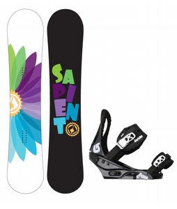 Sapient Color Wheel Snowboard w/Burton Citizen Bindings Black