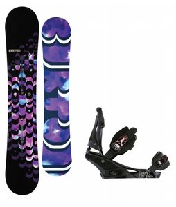 Burton Feelgood ICS Snowboar w/Burton Escapade Bindings Black Widow