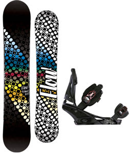 Flow Myriad Snowboard w/Burton Escapade Bindings Black Widow