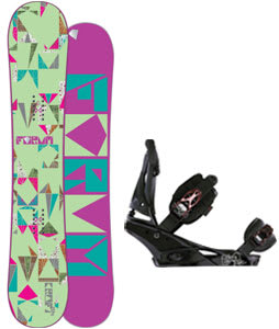 Forum Craft Snowboard w/Burton Escapade Bindings Black Widow
