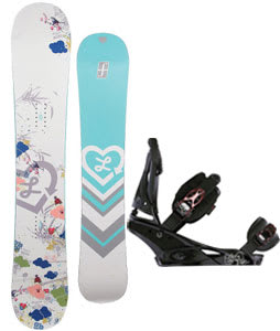 Forum Luxirie Snowboard w/Burton Escapade Bindings Black Widow