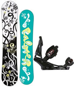 Palmer Jade Twin Snowboard w/Burton Escapade Bindings Black Widow