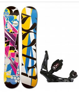 Rossignol Justice Amptek Snowboard w/Burton Escapade Bindings Black Widow