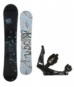 Rossignol Reserve Snowboard w/Burton Escapade Bindings Black Widow