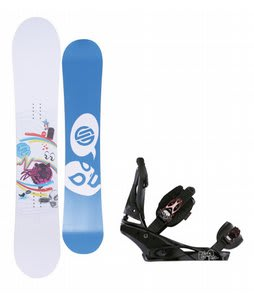 Santa Cruz Suave Eyes Snowboard w/Burton Escapade Bindings Black Widow