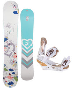 Forum Luxirie Snowboard w/Burton Escapade Bindings Natural White