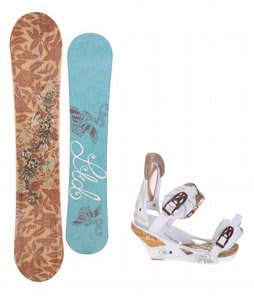 LTD Betty Snowboard w/Burton Escapade Bindings Natural White