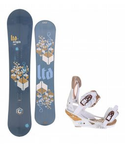 LTD Origin Snowboard w/Burton Escapade Bindings Natural White