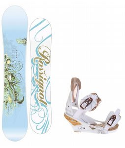 Rossignol Zena Snowboard w/Burton Escapade Bindings Natural White