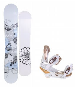 Santa Cruz Muse Snowboard w/Burton Escapade Bindings Natural White