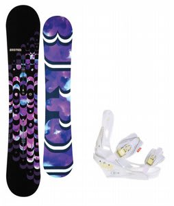 Burton Feelgood ICS Snowboar w/Burton Lexa Bindings White A Dot