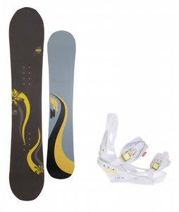 F2 Gipsy Snowboard w/Burton Lexa Bindings White A Dot