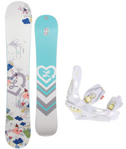 Forum Luxirie Snowboard w/Burton Lexa Bindings White A Dot