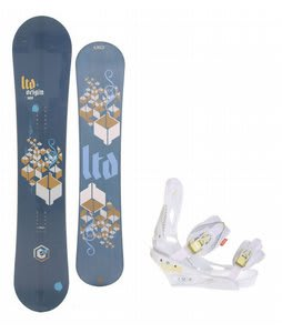 LTD Origin Snowboard w/Burton Lexa Bindings White A Dot