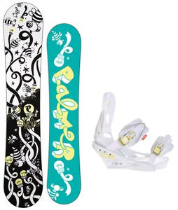 Palmer Jade Twin Snowboard w/Burton Lexa Bindings White A Dot