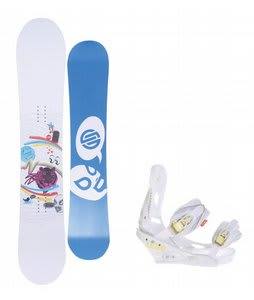 Santa Cruz Suave Eyes Snowboard w/Burton Lexa Bindings White A Dot