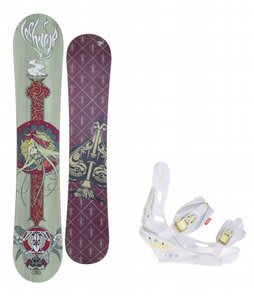 Technine Suerte Series Snowboard w/Burton Lexa Bindings White A Dot