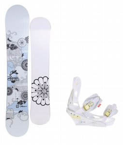 Santa Cruz Muse Snowboard w/Burton Lexa Bindings White A Dot