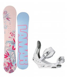 Lamar Merlot Snowboard w/Burton Stiletto Bindings White