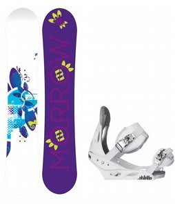 Morrow Sky Snowboard w/Burton Stiletto Bindings White