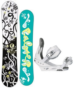 Palmer Jade Twin Snowboard w/Burton Stiletto Bindings White