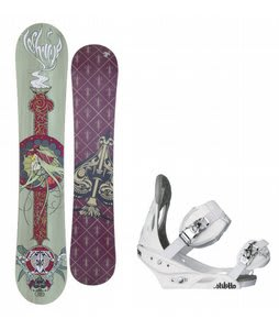 Technine Suerte Series Snowboard w/Burton Stiletto Bindings White
