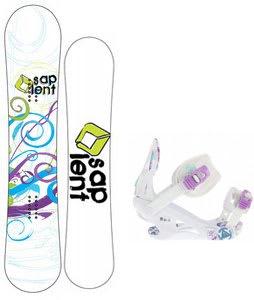 Sapient Spiral Snowboard w/K2 Kat Bindings White
