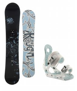 Rossignol Reserve Snowboard w/Ride LXH Bindings White/Blue