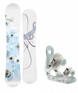 Rossignol Temptation Snowboard w/Ride LXH Bindings White/Blue