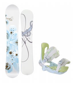 Rossignol Temptation Snowboard w/Rossignol Zena Bindings White/Light Blue